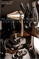 Rubber Eva in Anal Hook with Adjustable Butt Plug gallery from RUBBEREVA by Paul W