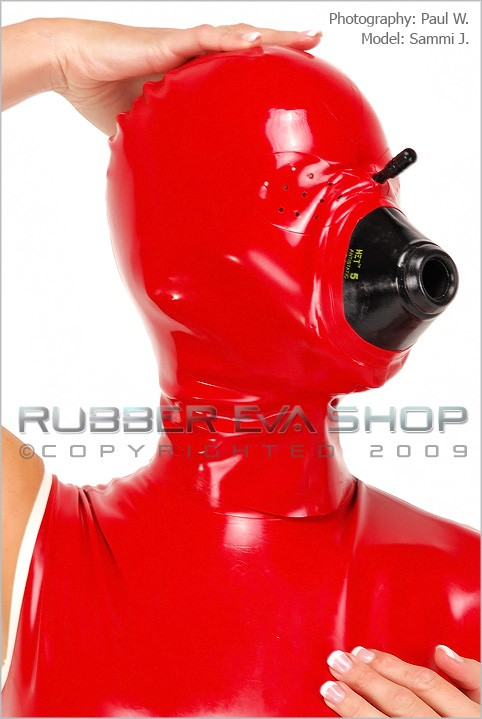 Sammi J - `Anesthesia Hood With Pepperpot Eyes` - by Paul W for RUBBEREVA