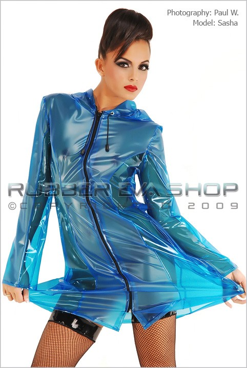 Sasha in Club Coat gallery from RUBBEREVA by Paul W