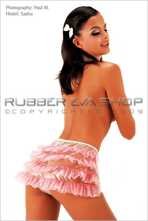 Sasha - `Frilly Hot Pants` - by Paul W for RUBBEREVA