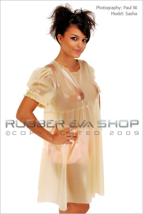 Sasha - `Frilly Rubber Smock` - by Paul W for RUBBEREVA