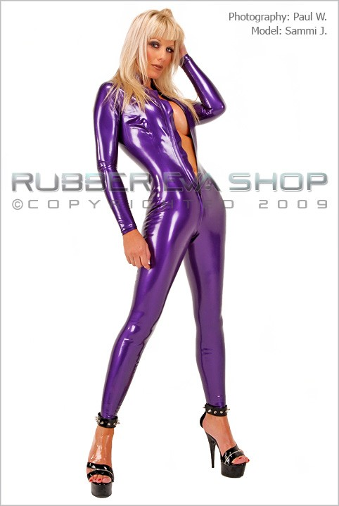 Sammi J - `Front Zip Catsuit` - by Paul W for RUBBEREVA