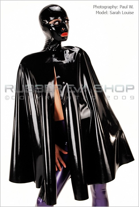 Sarah Louise - `Hooded Rubber Cape` - by Paul W for RUBBEREVA