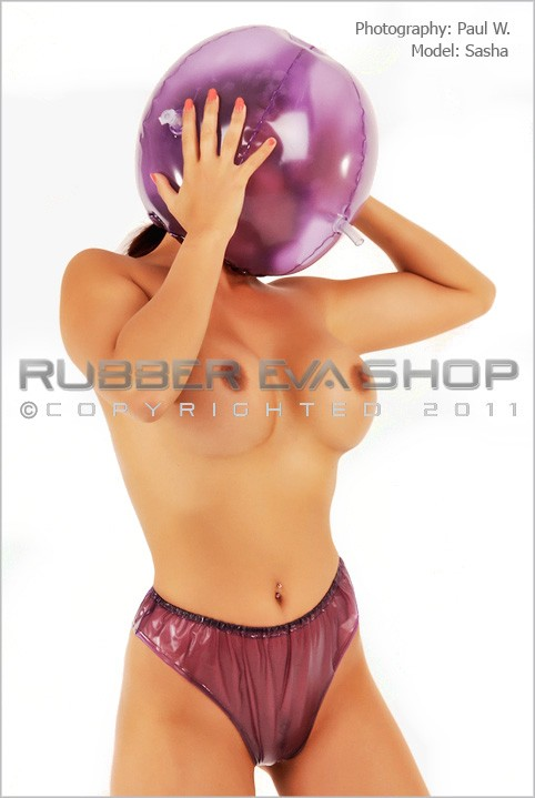 Sasha - `Inflatable Plastic Ball Hood` - by Paul W for RUBBEREVA