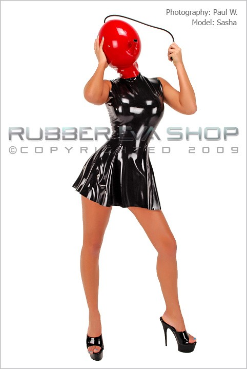 Sasha - `Inflatable Rubber Hood` - by Paul W for RUBBEREVA
