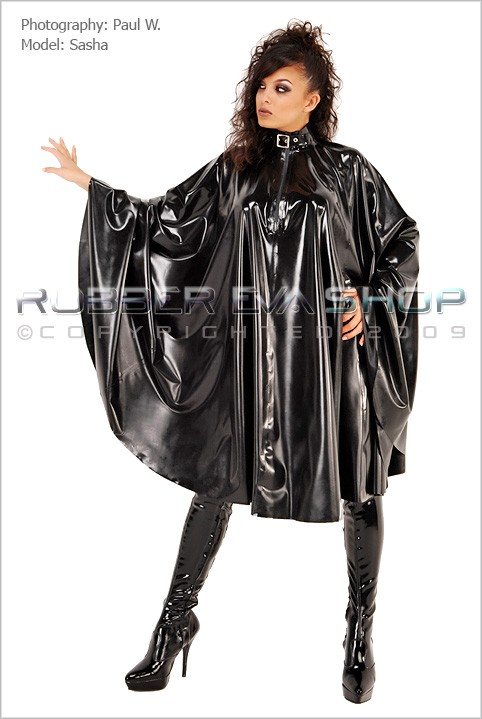 Sasha - `Long Rubber Cape` - by Paul W for RUBBEREVA