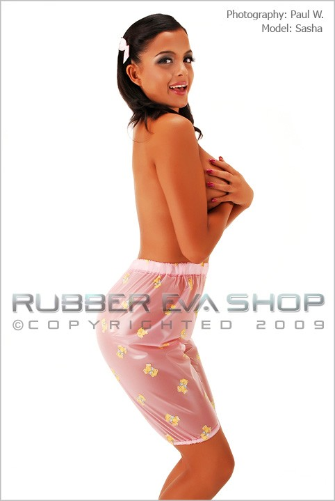 Sasha - `Plastic Bloomers` - by Paul W for RUBBEREVA