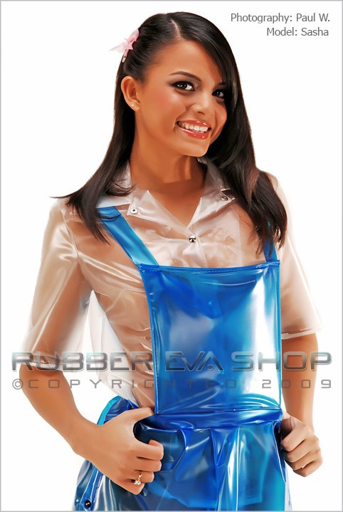 Sasha in Plastic Schoolgirl gallery from RUBBEREVA by Paul W