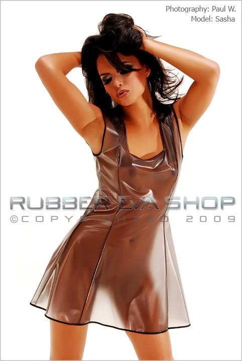 Sasha - `Plastic Skating Dress` - by Paul W for RUBBEREVA