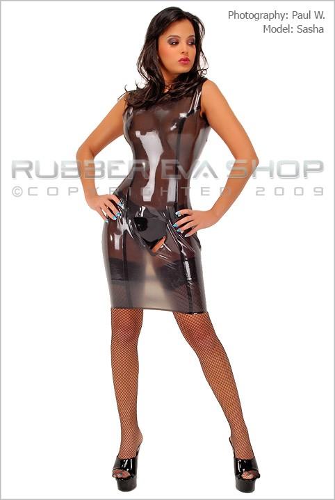 Sasha - `Pussy Poke Spanking Dress` - by Paul W for RUBBEREVA