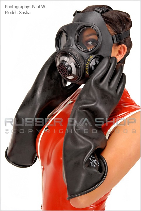 Sasha - `Rubber Danish Gasmask` - by Paul W for RUBBEREVA