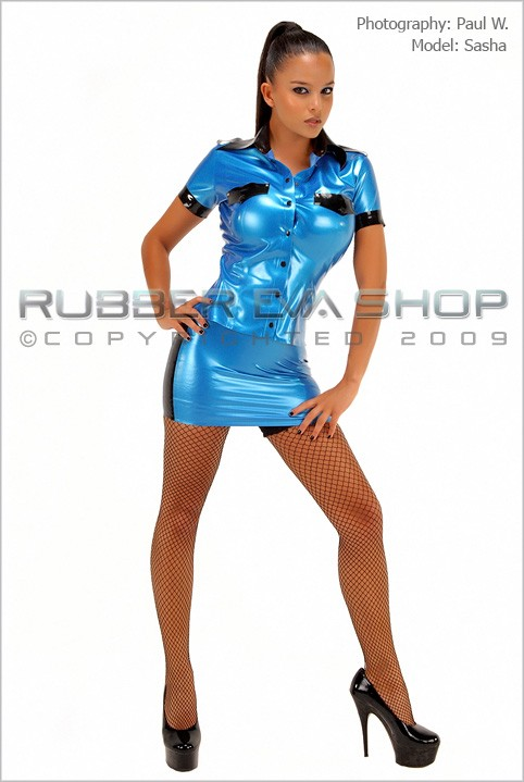 Sasha - `Rubber Officers Uniform` - by Paul W for RUBBEREVA