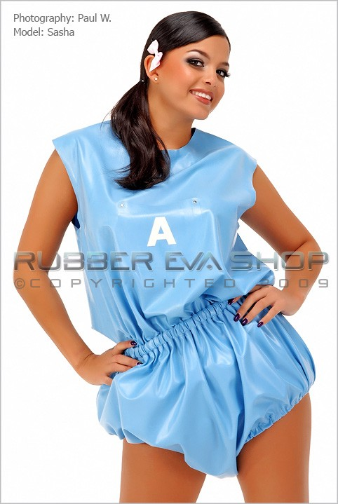 Sasha - `Rubber Romper Pants` - by Paul W for RUBBEREVA