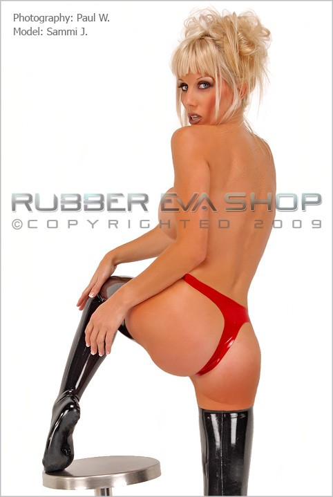 Sammi J - `Rubber Thong` - by Paul W for RUBBEREVA