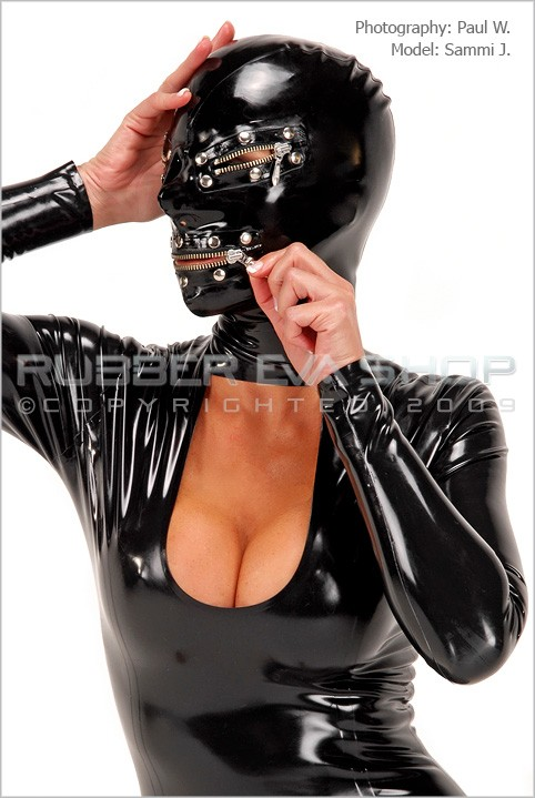 Sammi J - `Rubber Zipper Hood` - by Paul W for RUBBEREVA