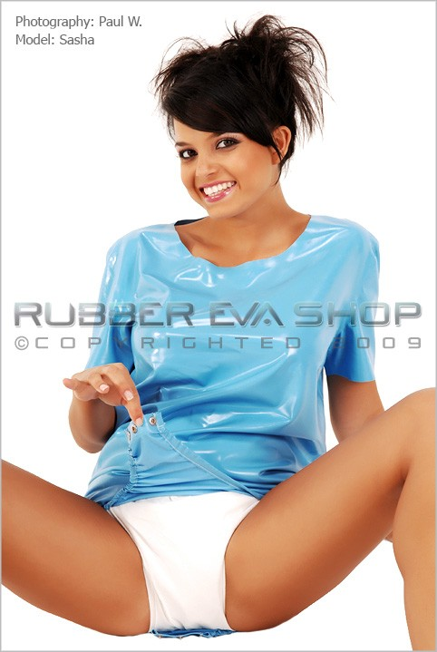 Sasha - `Short Rubber Onesie` - by Paul W for RUBBEREVA