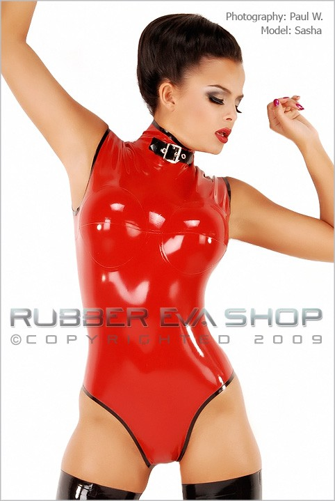 Sasha - `Sleeveless Body With Breast Cups` - by Paul W for RUBBEREVA