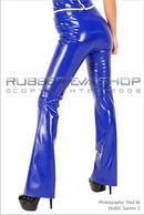 Sammi J in Belted Bootleg Trousers gallery from RUBBEREVA by Paul W