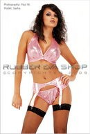 Sasha in Bra, Panties & Suspender Set gallery from RUBBEREVA by Paul W