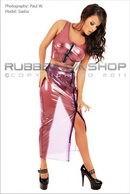 Long Plastic Hobble Skirt