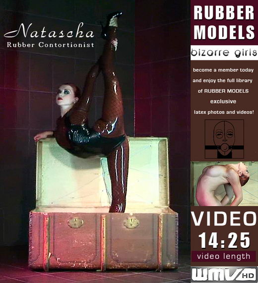 Natascha - `Rubber Contortionist` - for RUBBERMODELS