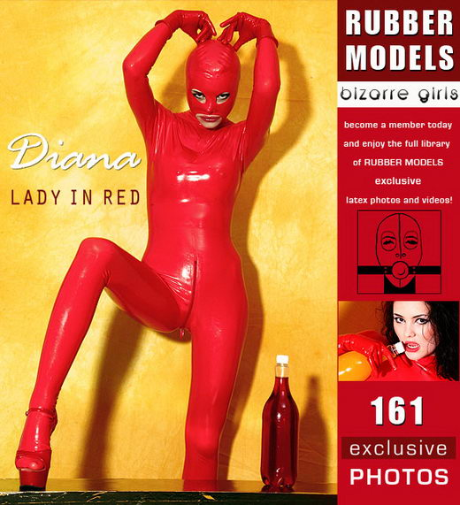 Diana - `Lady in Red` - for RUBBERMODELS
