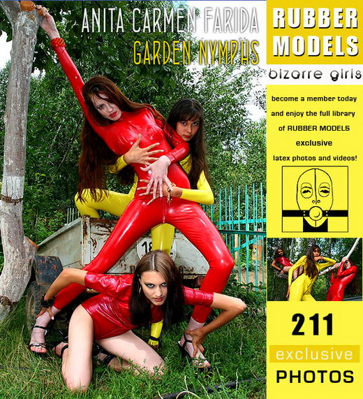 Anita & Carmen & Farida - `Garden Nymphs` - for RUBBERMODELS