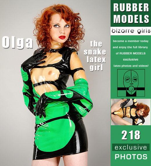 Olga - `The Snake Latex Girl` - for RUBBERMODELS