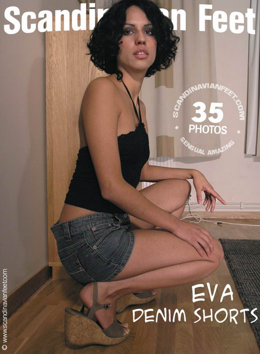 Eva - `Denim Shorts` - for SCANDINAVIANFEET