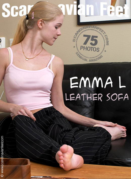 Emma L - `Leather Sofa` - for SCANDINAVIANFEET