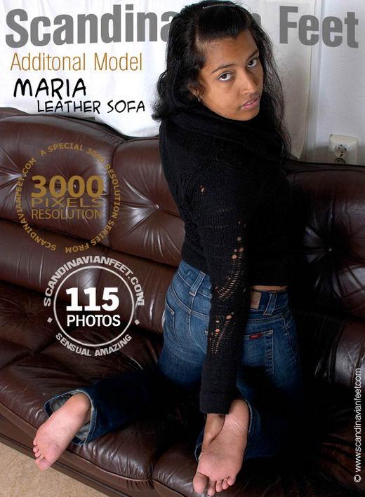 Maria - `Leather Sofa` - for SCANDINAVIANFEET