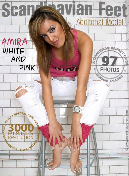 Amira - `White And Pink` - for SCANDINAVIANFEET