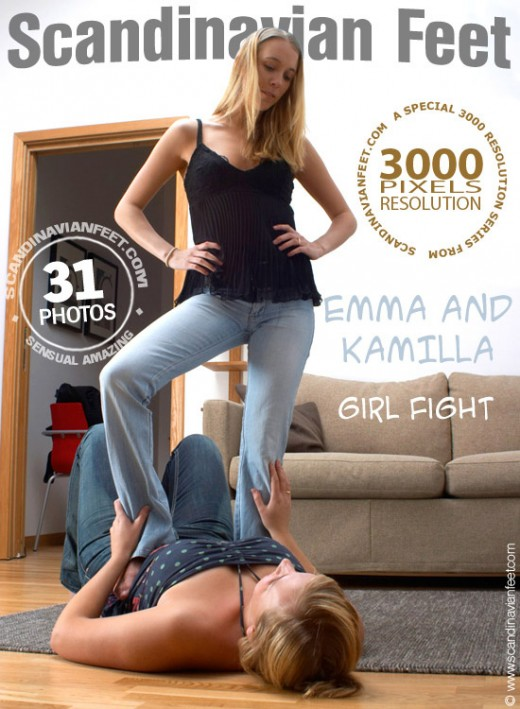 Emma & Kamilla - `Girl Fight` - for SCANDINAVIANFEET