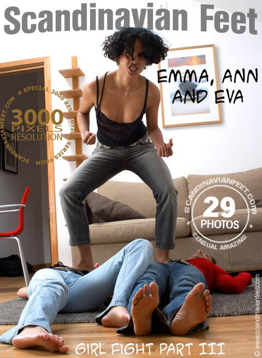 Emma & Ann & Eva - `Girl Fight - Part III` - for SCANDINAVIANFEET