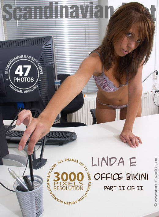 Linda E - `Office Bikini Part II` - for SCANDINAVIANFEET