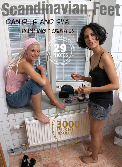 Danielle & Eva - `Painting Toenails` - for SCANDINAVIANFEET