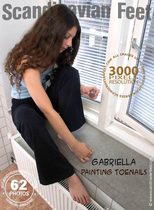 Gabriella - `Painting Toenails` - for SCANDINAVIANFEET