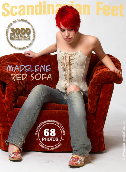 Madelene - `Red Sofa` - for SCANDINAVIANFEET