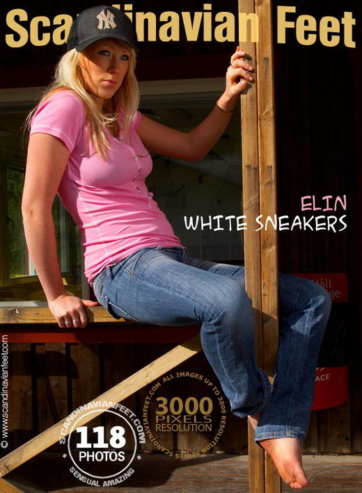Elin - `White Sneakers` - for SCANDINAVIANFEET