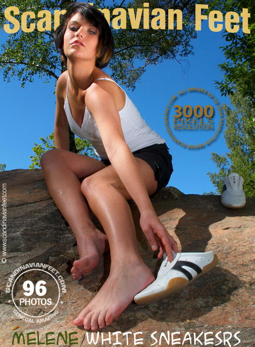 Melene - `White Sneakers` - for SCANDINAVIANFEET