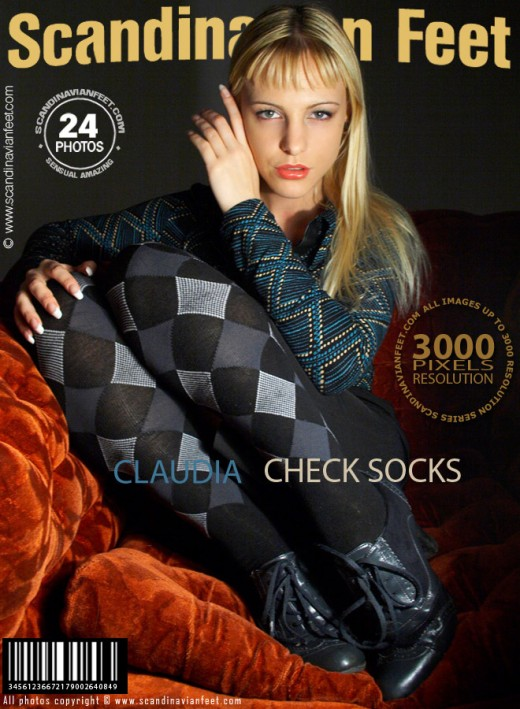 Claudia - `Check Socks` - for SCANDINAVIANFEET