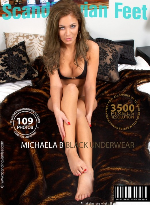 Michaela B - `Black Underwear` - for SCANDINAVIANFEET