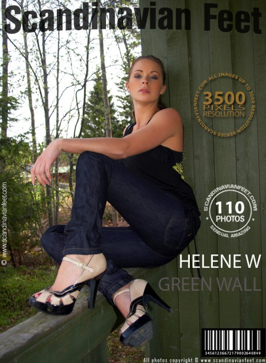 Helene W - `#391 - Green Wall` - for SCANDINAVIANFEET