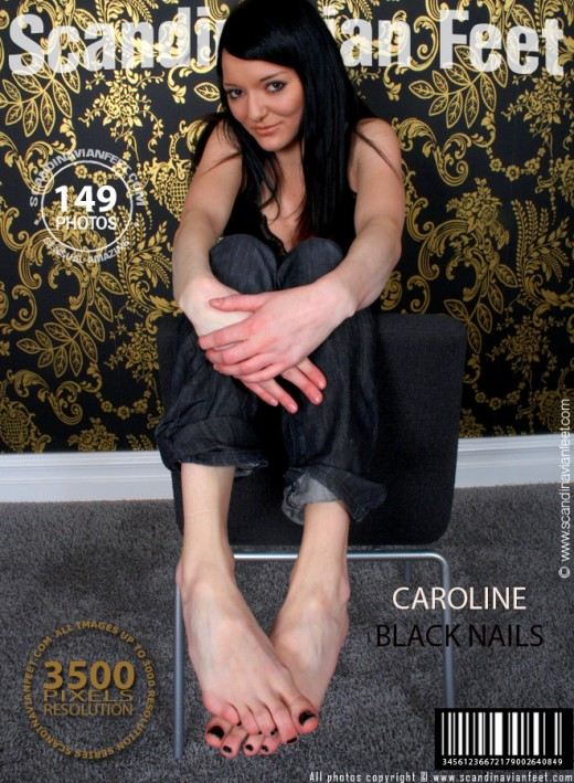 Caroline - `Black Nails` - for SCANDINAVIANFEET