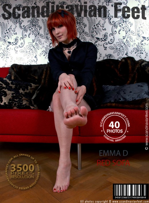 Emma D - `Red Sofa` - for SCANDINAVIANFEET