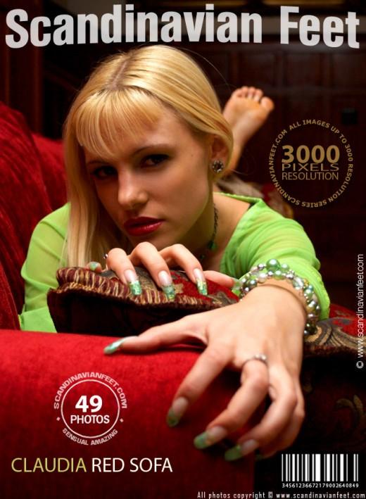 Claudia - `Red Sofa` - for SCANDINAVIANFEET
