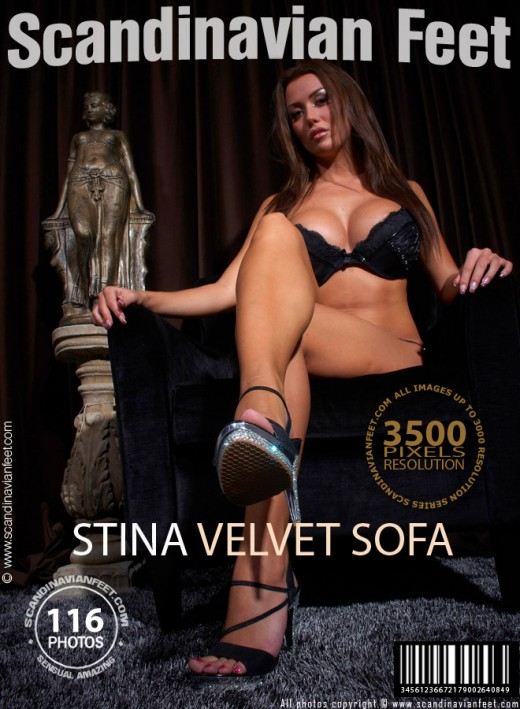 Stina - `Velvet Sofa` - for SCANDINAVIANFEET