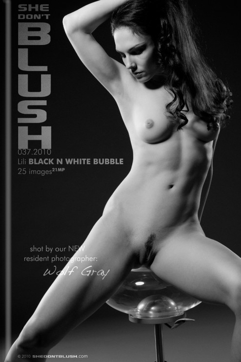 Lili - `Black n White Bubble` - for SHEDONTBLUSH