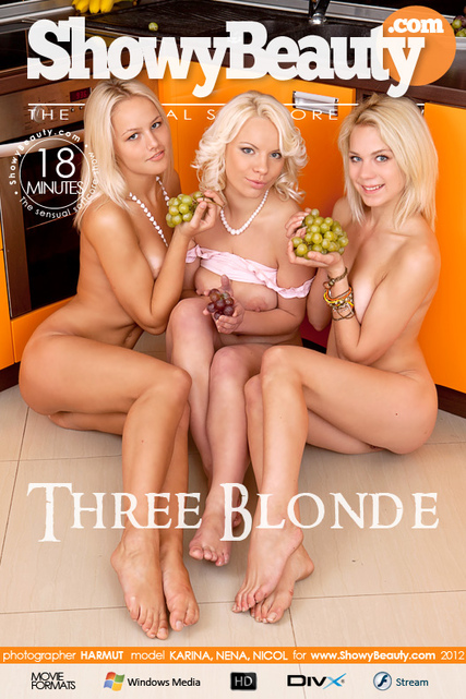 Karina & Nena & Nicol - `Three Blonde` - by Harmut for SHOWYBEAUTY