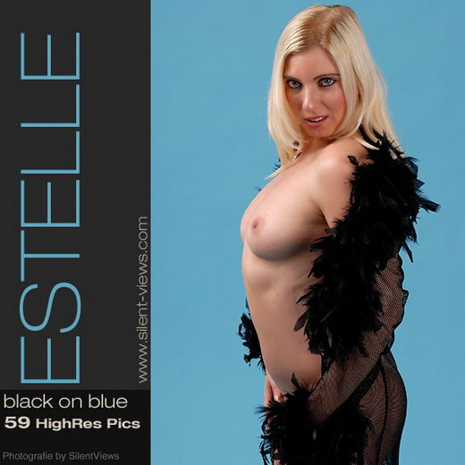 Estelle - `#60 - Black On Blue` - for SILENTVIEWS